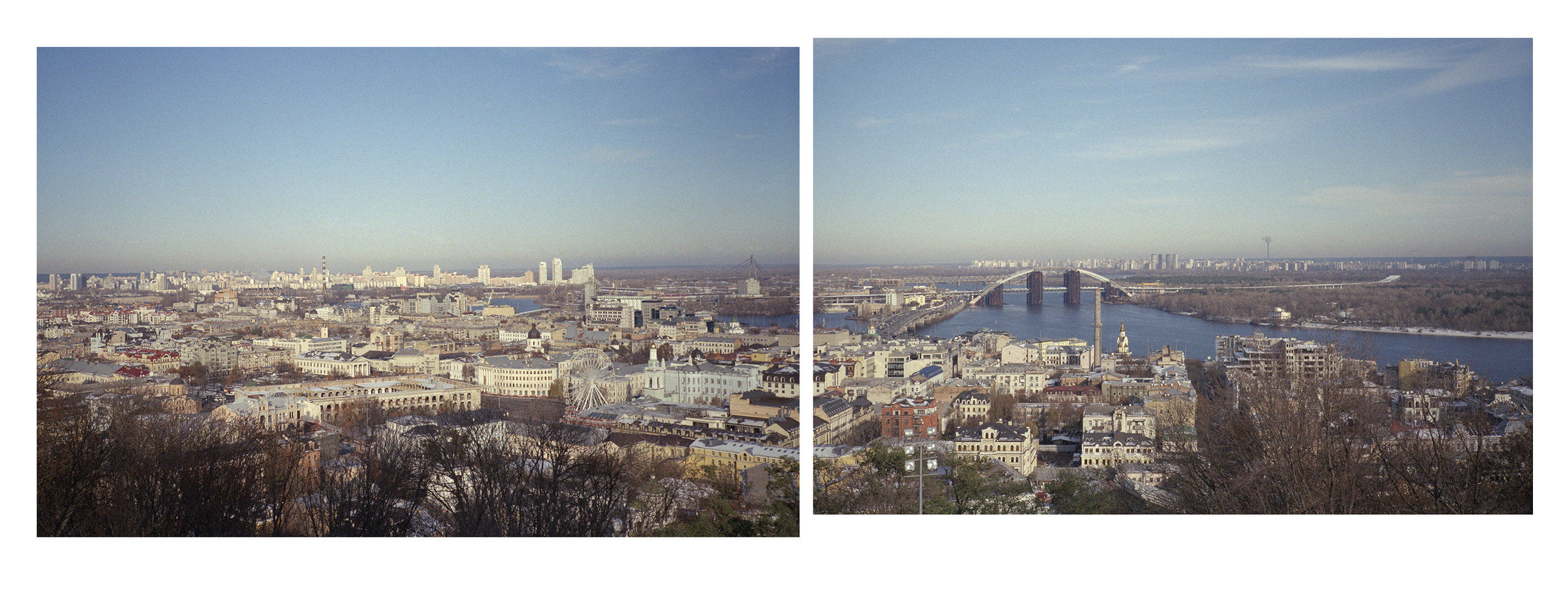 Podil and Dnieper River, from Saint Andrew's Church, Kyiv