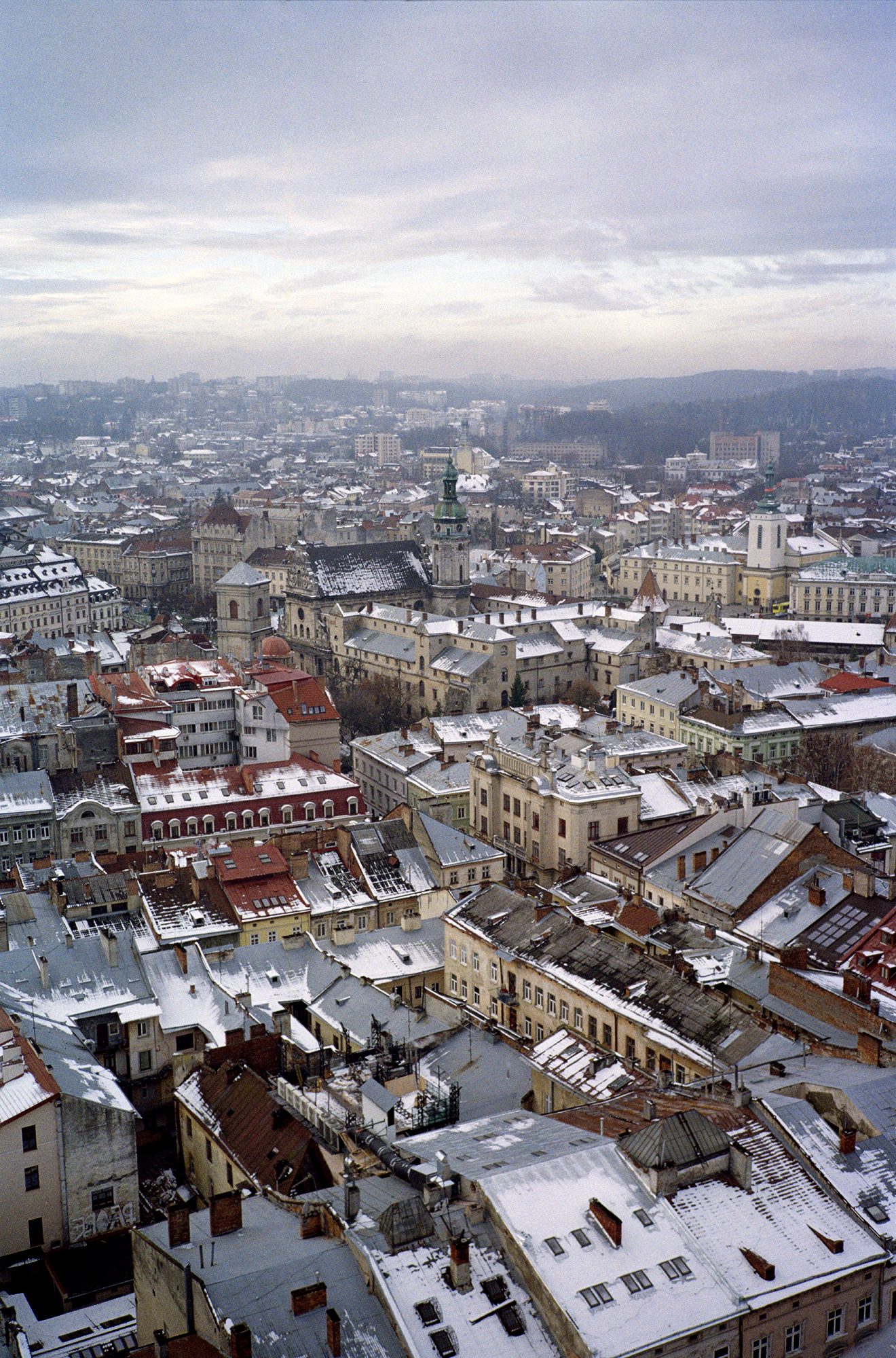 Lviv, from the Town Hall Clock Tower