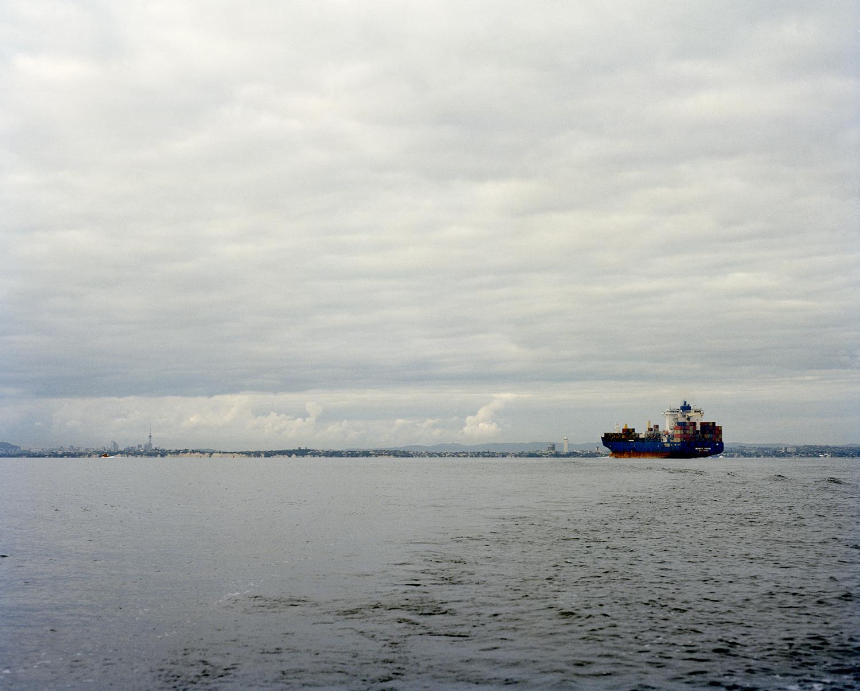 Looking to Tāmaki Makaurau from Tīkapa Moana, 2018