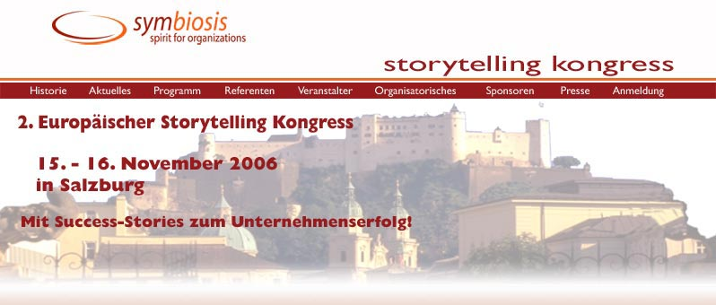 The European Storytelling Congress, Salzburg, Austria