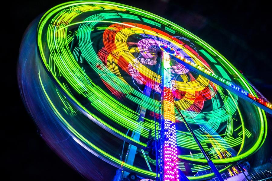 2014-08-21 Vancouver Playland Long Exposures Westcoast Wheel-10
