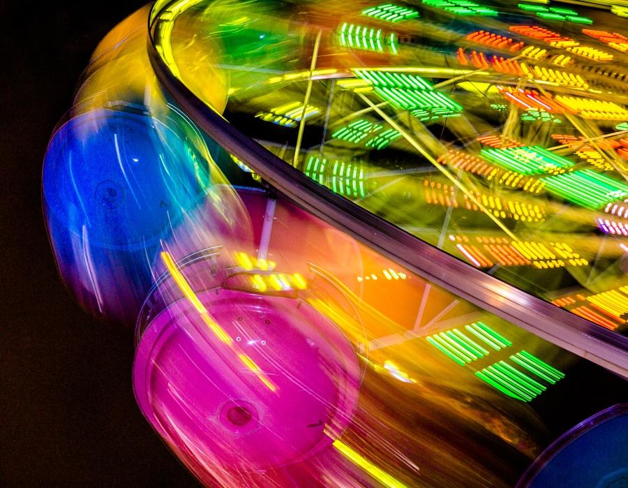 2014-08-21 Vancouver Playland Long Exposures Westcoast Wheel-28