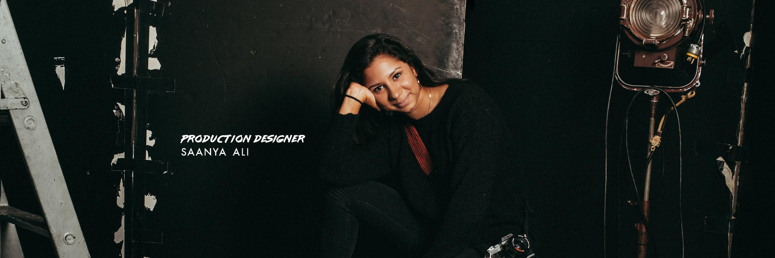 production designer, saanya ali