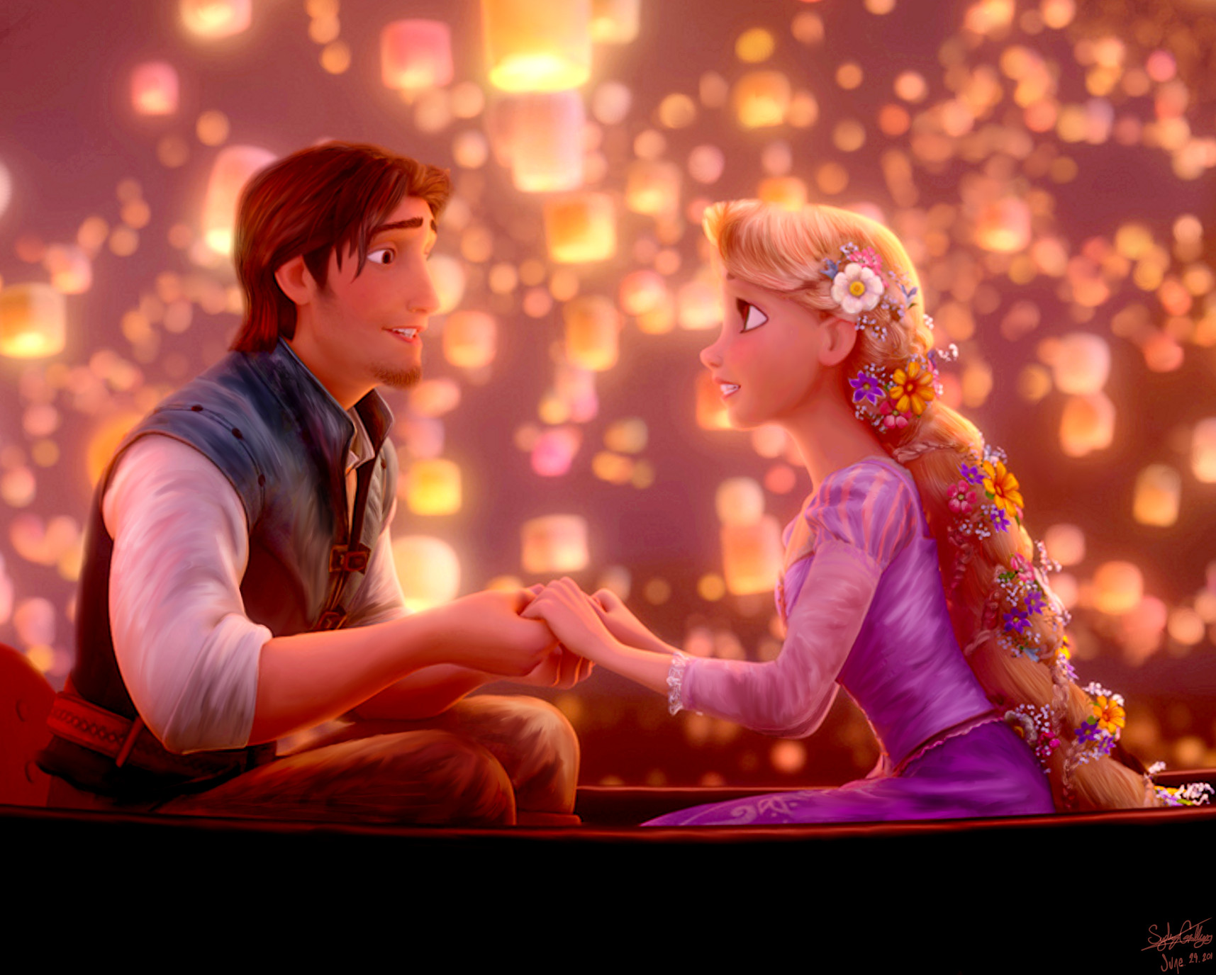 """""""All at once, everything looks different, now that I see you."""" --Tangled"""
