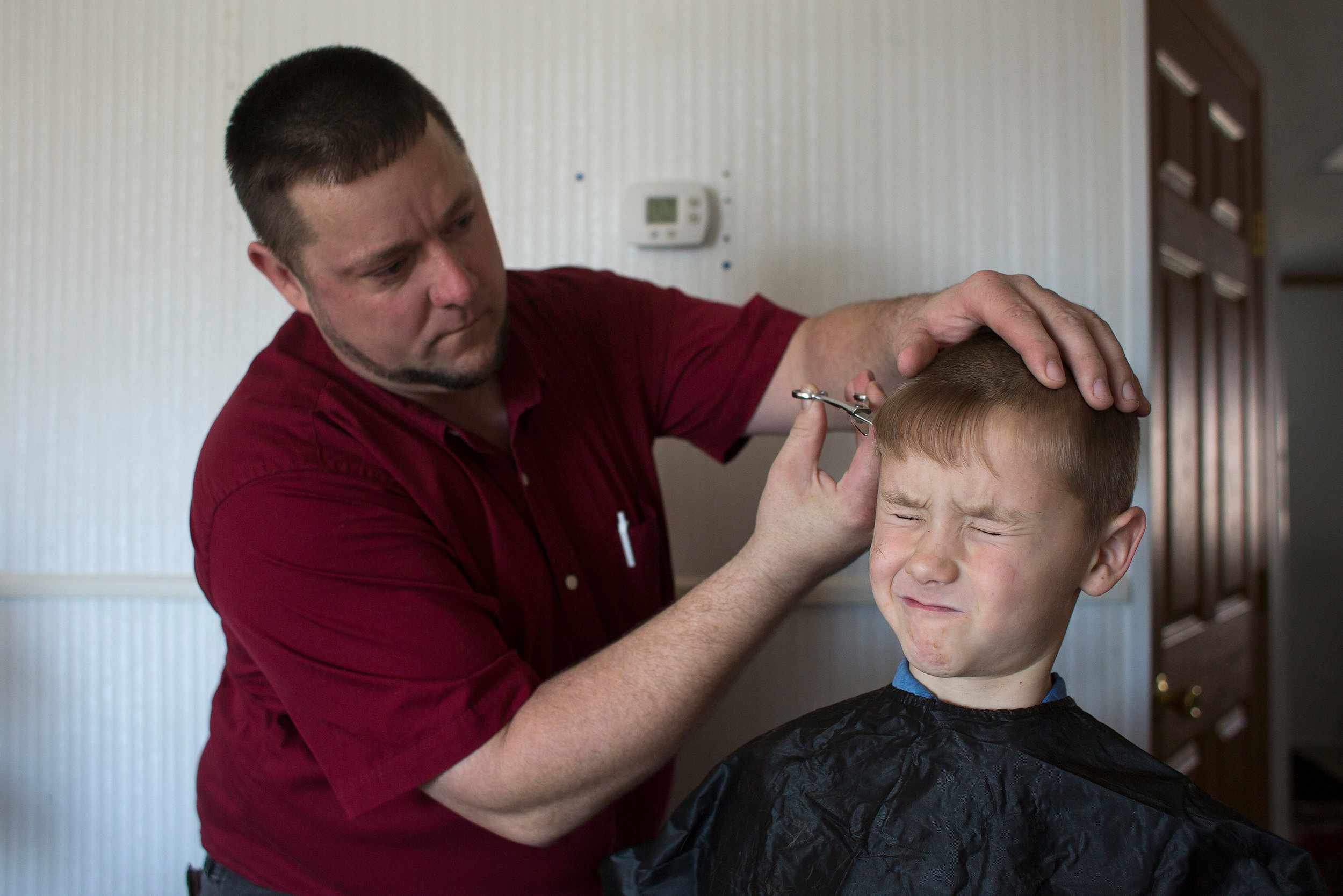 "Stanley, who cuts the hair of all five of his sons, trimmed Tyler's hair Dec. 16. ""A lot of the Amish and Mennonites cut their own hair,"" Stanley said. ""It's very rare to see any Mennonites or Amish go to a barber."" Shannon said that as a general rule for conservative Mennonites, women don't cut their hair."