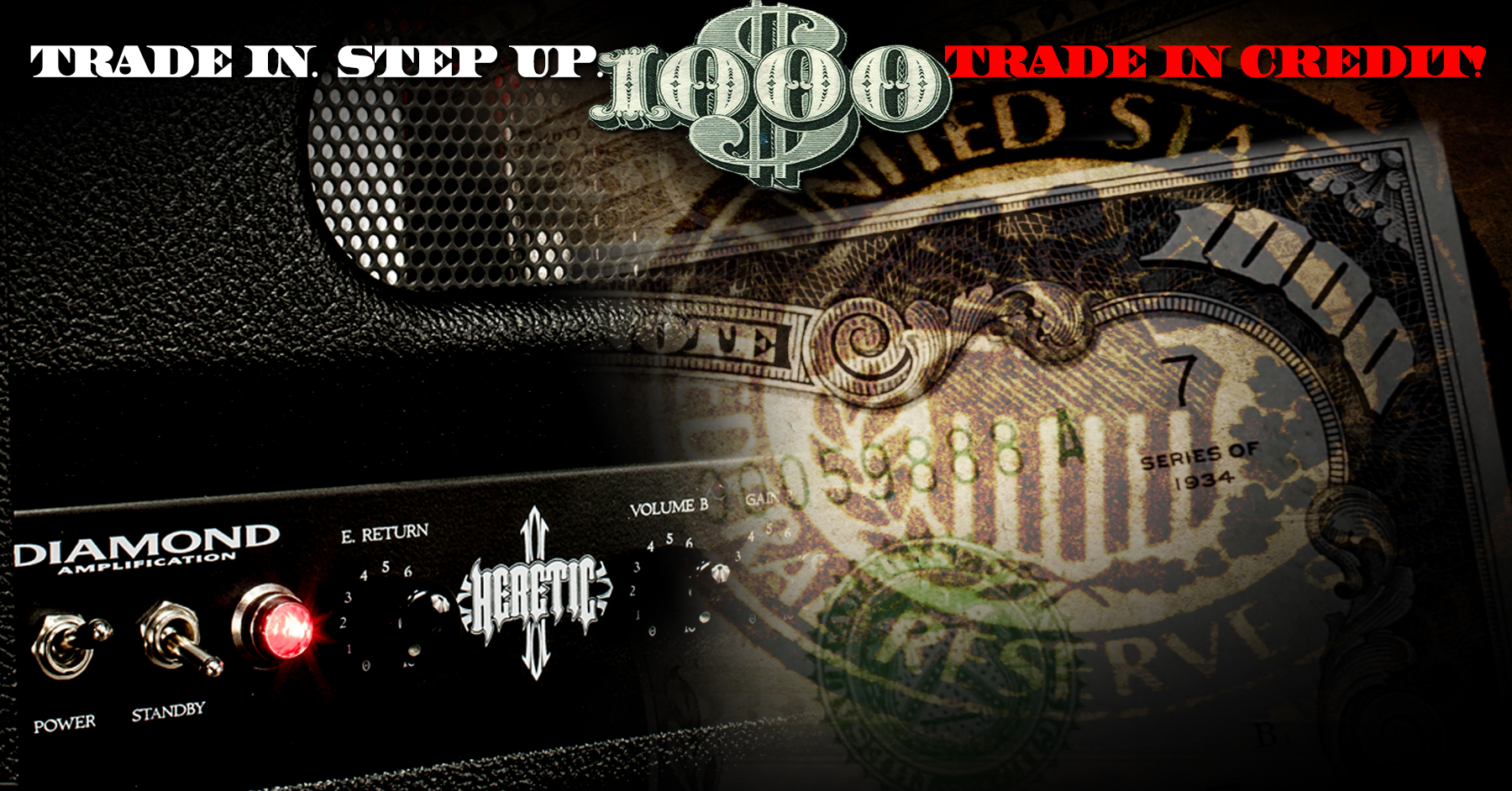 $1000* credit on a new USA Custom Diamond Amp for qualifying amps!