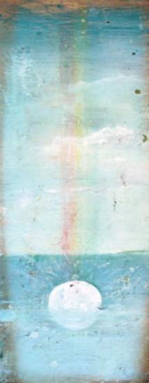 """THE RAIN, Oil on Wood, 23 x 9 1/2"""""""