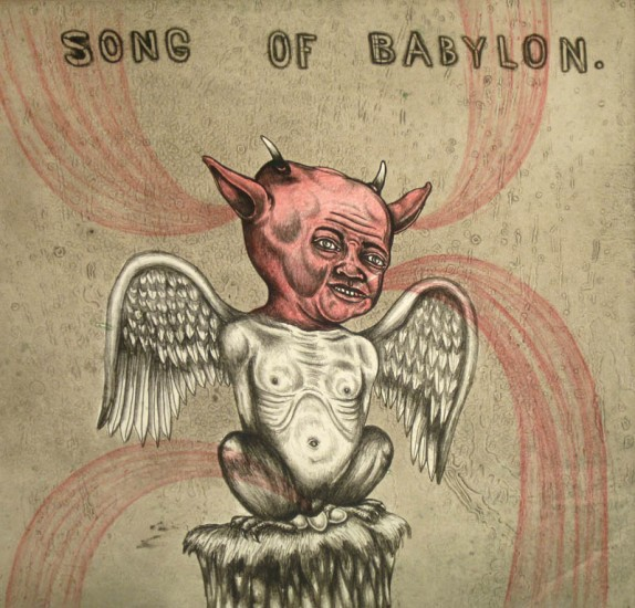 SONG OF BABYLON, Lithograph, Ed. 33/36, 19 1/2 x 17""