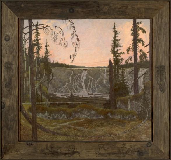 "NIN GIBAGAWAIGE (973), Oil on Linen, 31 x 33"""
