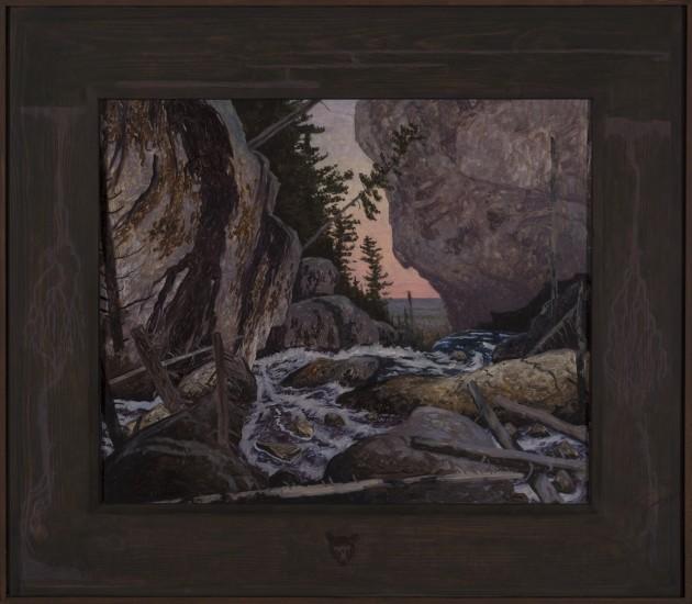 "MINIGOWIN (983), Oil on Masonite, 22 3/4 x 26"""