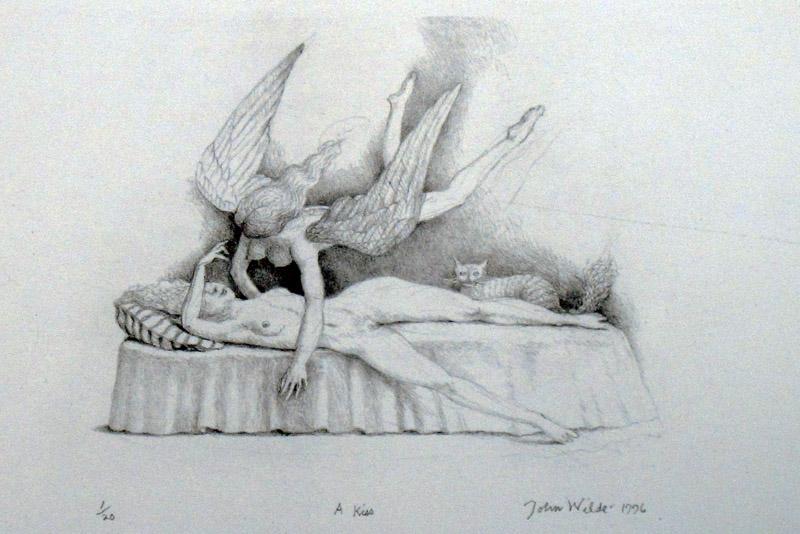 "A KISS, Etching, 11 1/2 x 13"", Ed. 1/20"
