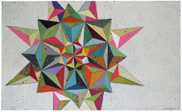 """Jason Rohlf, """"Ferried"""", Acrylic on Canvas,19 x 30"""""""