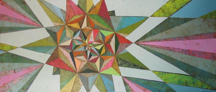 "Jason Rohlf, ""Intuitive Compass"", Acrylic on Linen,30 x 72"""