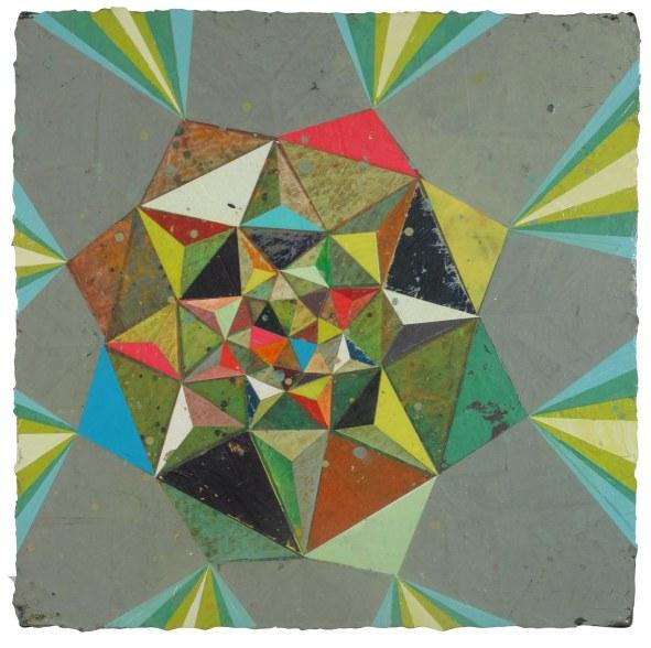 """Jason Rohlf, """"Query"""", Acrylic on Canvas,15 x 15"""""""