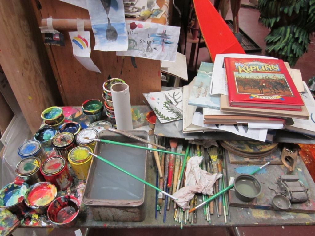 The painting table, as well as source material.