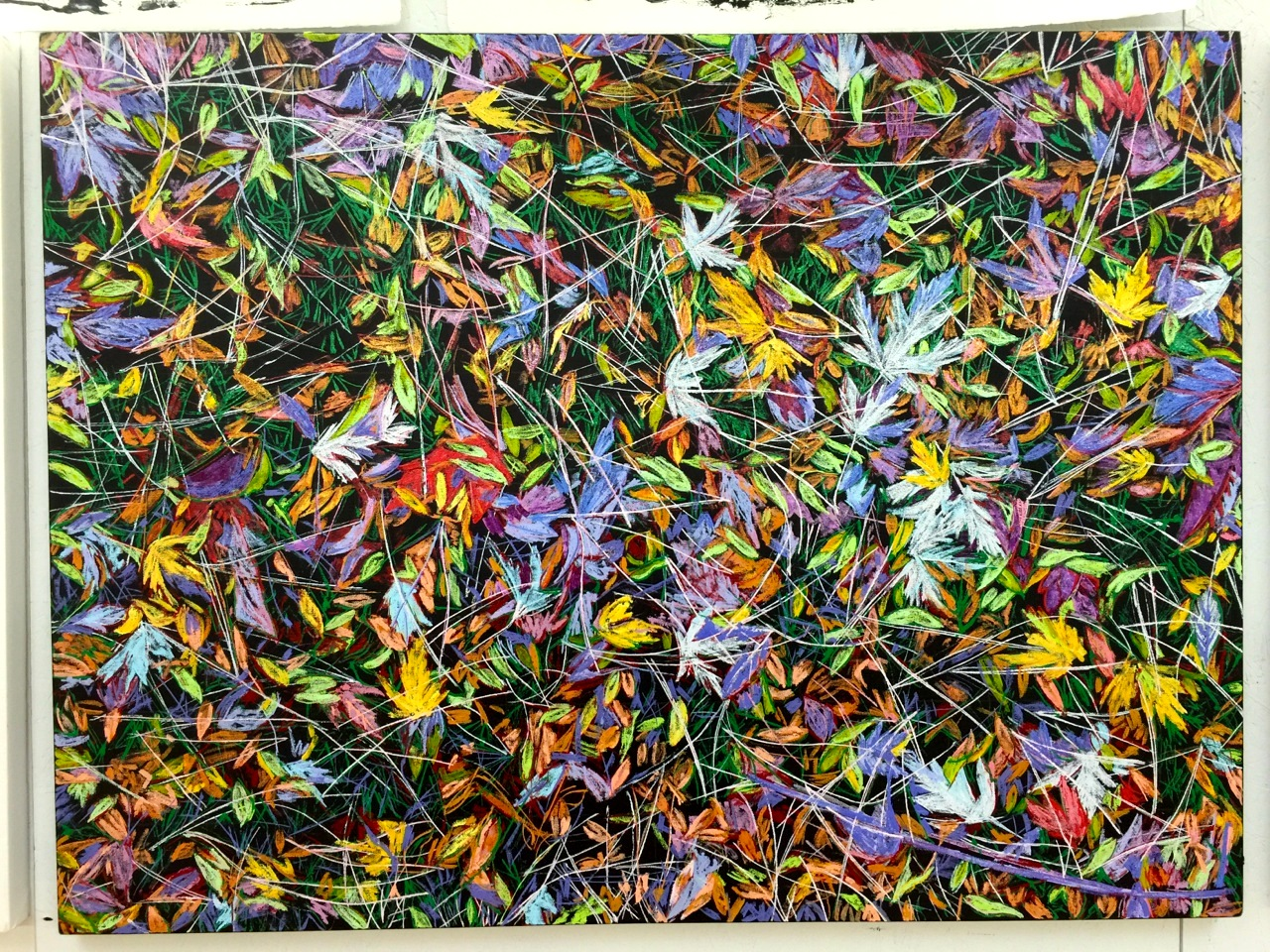 Jan Serr, Leaves and Branches II, 36x48 inches, oil on linen - in progress