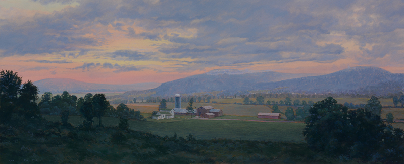 "James Winn, UPSTATE SERIES: NO. 5, Acrylic on Paper, image 15 x 36"" framed 25 1/2 x 46"""