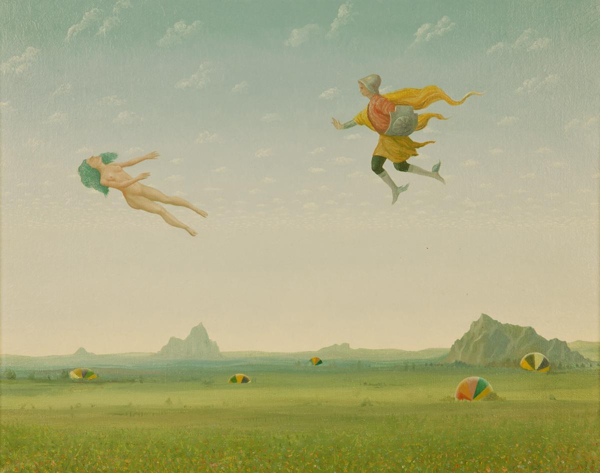 """HOMAGE TO PIERO DI COSIMO, 1986, Oil on Canvas, 16 1/2 x 20 1/4"""""""