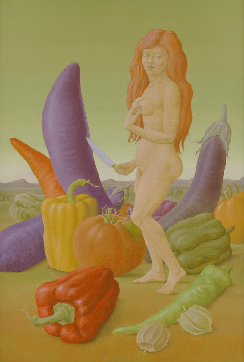 """NIGHTSHADE 4, 1998, Oil on Canvas on Wood, 19 1/4 x 13 1/4"""""""