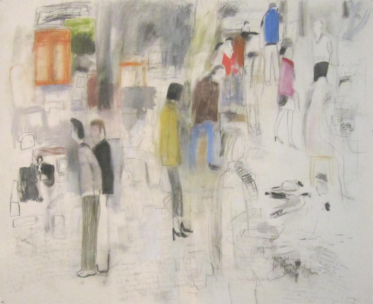 """Mark Mulhern, BROCANTE (LARGE DRAWING), Mixed Media Drawing, 67 1/4 x 83 1/4"""""""