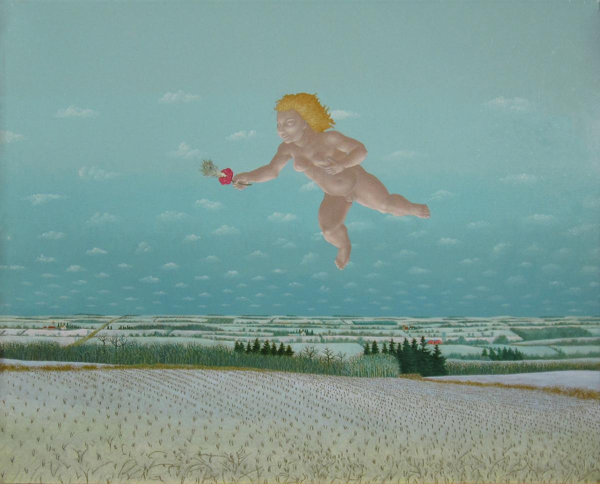 "An Homage to Philipp Otto Runge, 1987, Oil on Linen, 16 x 20"""