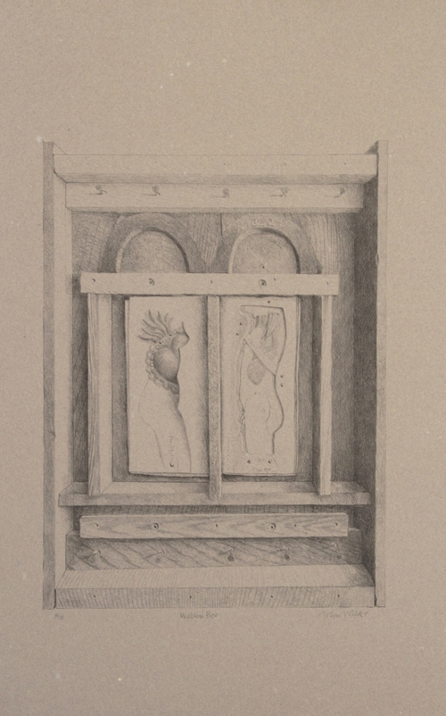 Walter's Box, Lithograph on Handmade Paper, 23 1/4 x 15 1/2""