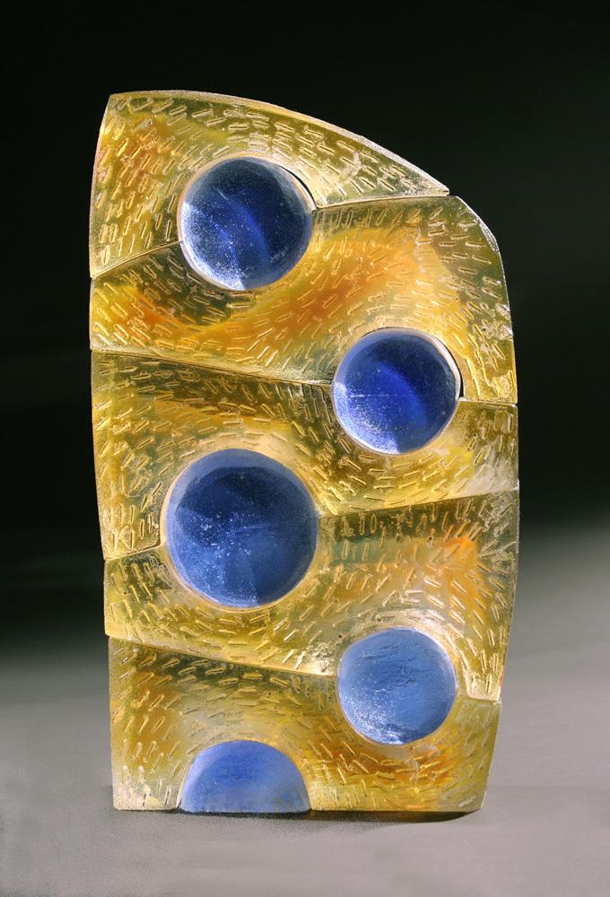 """Jeremy Popelka, GIBBOUS, Assembled Sand Cast Glass, 17 x 10 x 3 1/2"""""""