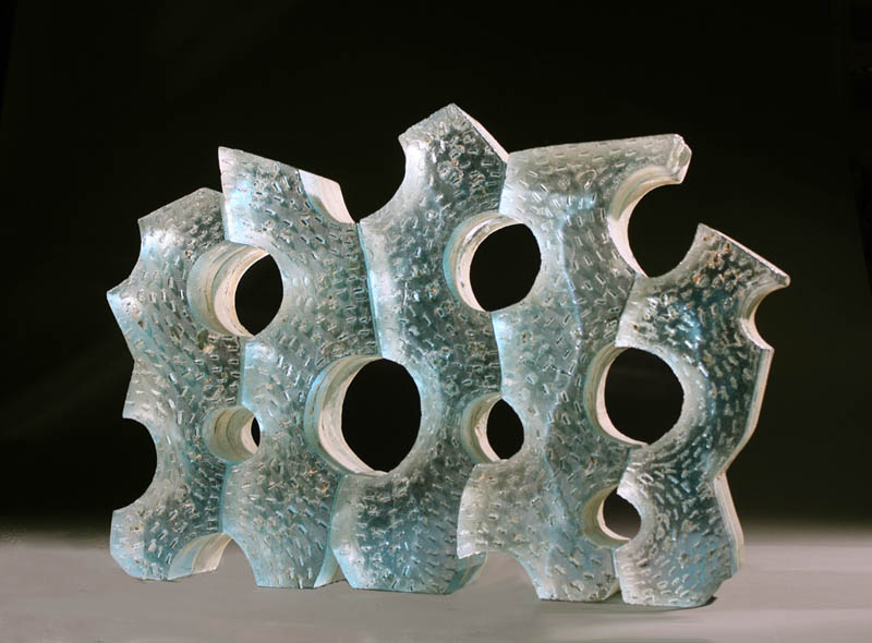 "Jeremy Popelka, KEY, Assembled Sand Cast Glass, 16 x 22 x 4 1/2"""