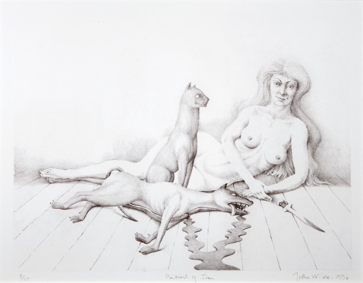 "PORTRAIT OF JOAN, Siligraph, 8 1/2 x 10 3/4"""