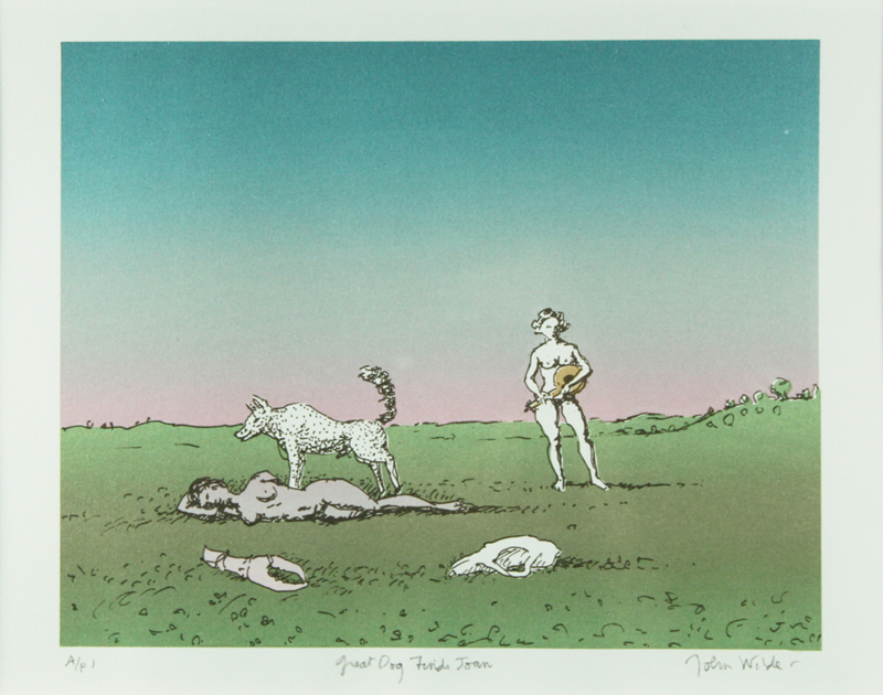 GREAT DOG FINDS JOAN, Color, Lithograph, 10 x 12""