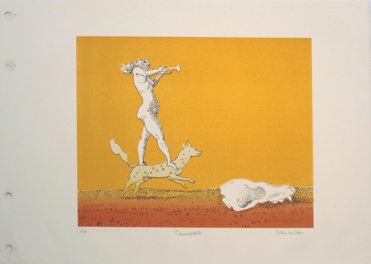 """TRIUMPHETTE, Color Lithograph on Paper, 14 x 19"""""""