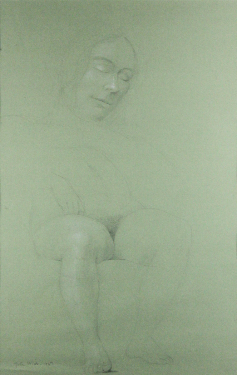 FEMALE NUDE SECTIONS - LIFE DRAWING, 1967-1975, Graphite, 14 x 21 1/2""