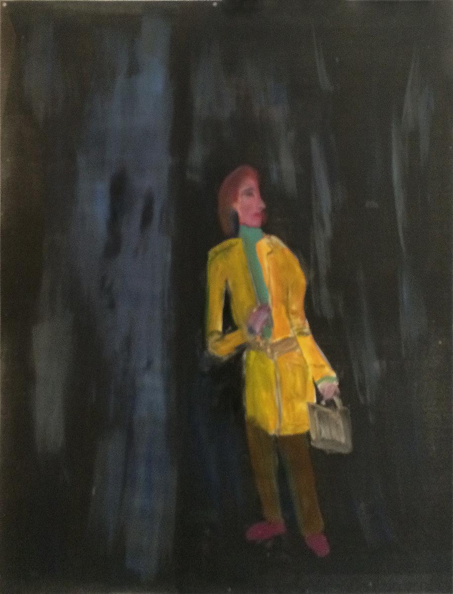 "UNTITLED (RAINY NIGHT), Monotype, 41 x 29 1/2"" framed 46 x 36"""