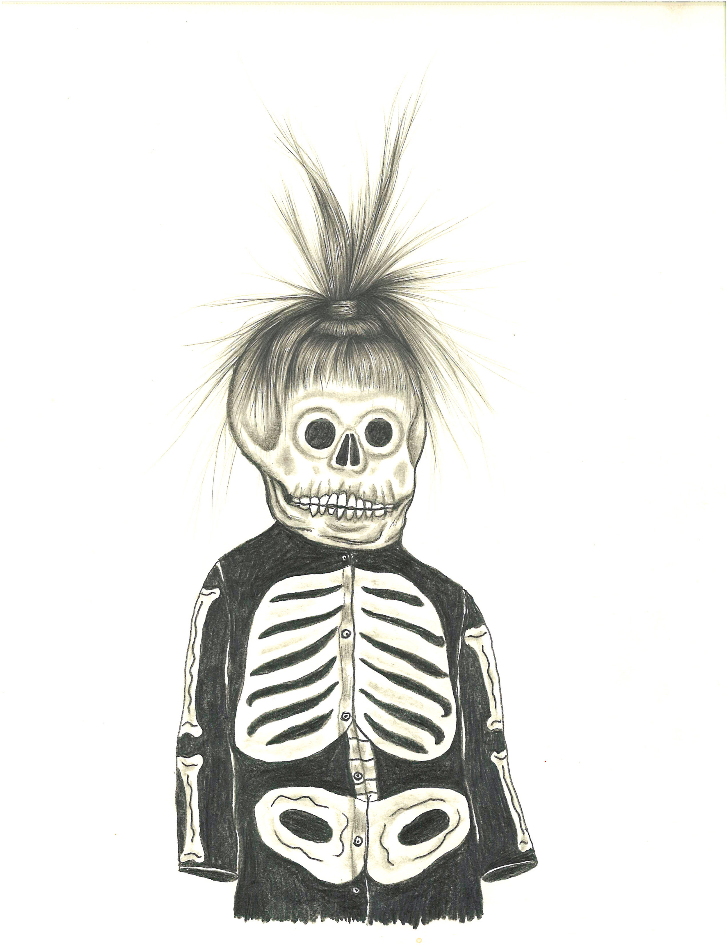 """Fred Stonehouse and Raeleen Kao, MUERTO, Graphite and Colored Pencil on Paper, 12 x 9"""""""