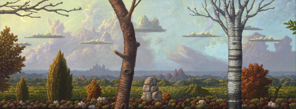 "SIMPLE TRUTH, Oil on Canvas, 14 x 30"""