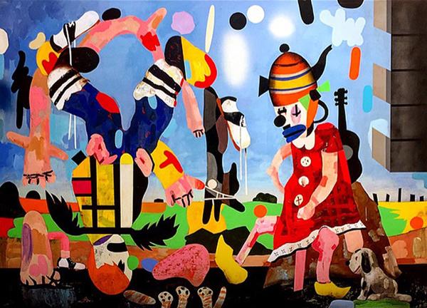 "THE RENUNCIATION II, Oil and Enamel on Canvas, 60 x 84"""