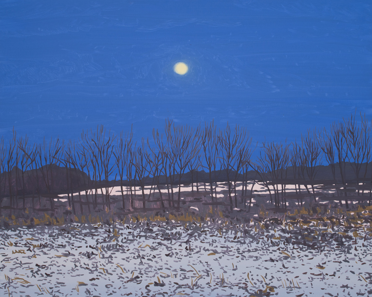 """MOON HUNTING LANDSCAPE, Oil on Canvas, 16 x 20"""""""
