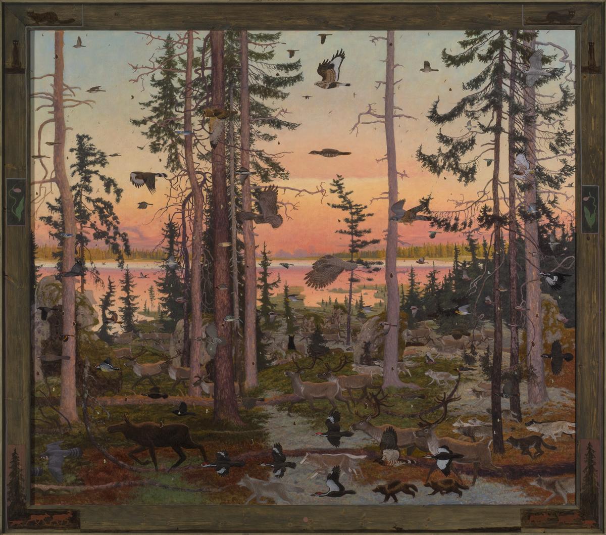 """NIN MAMAKASABANGE (977), Oil on Linen, 67 x 77"""""""