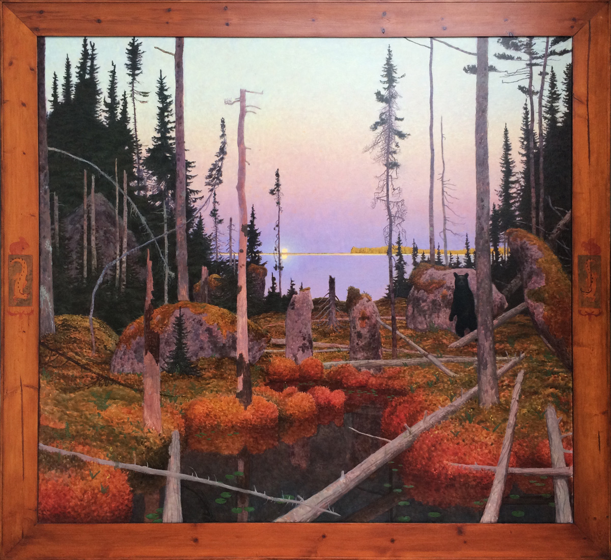 "NIND ANAMIE-WIDOKAWA (842), Oil on Linen, 57 x 61"""