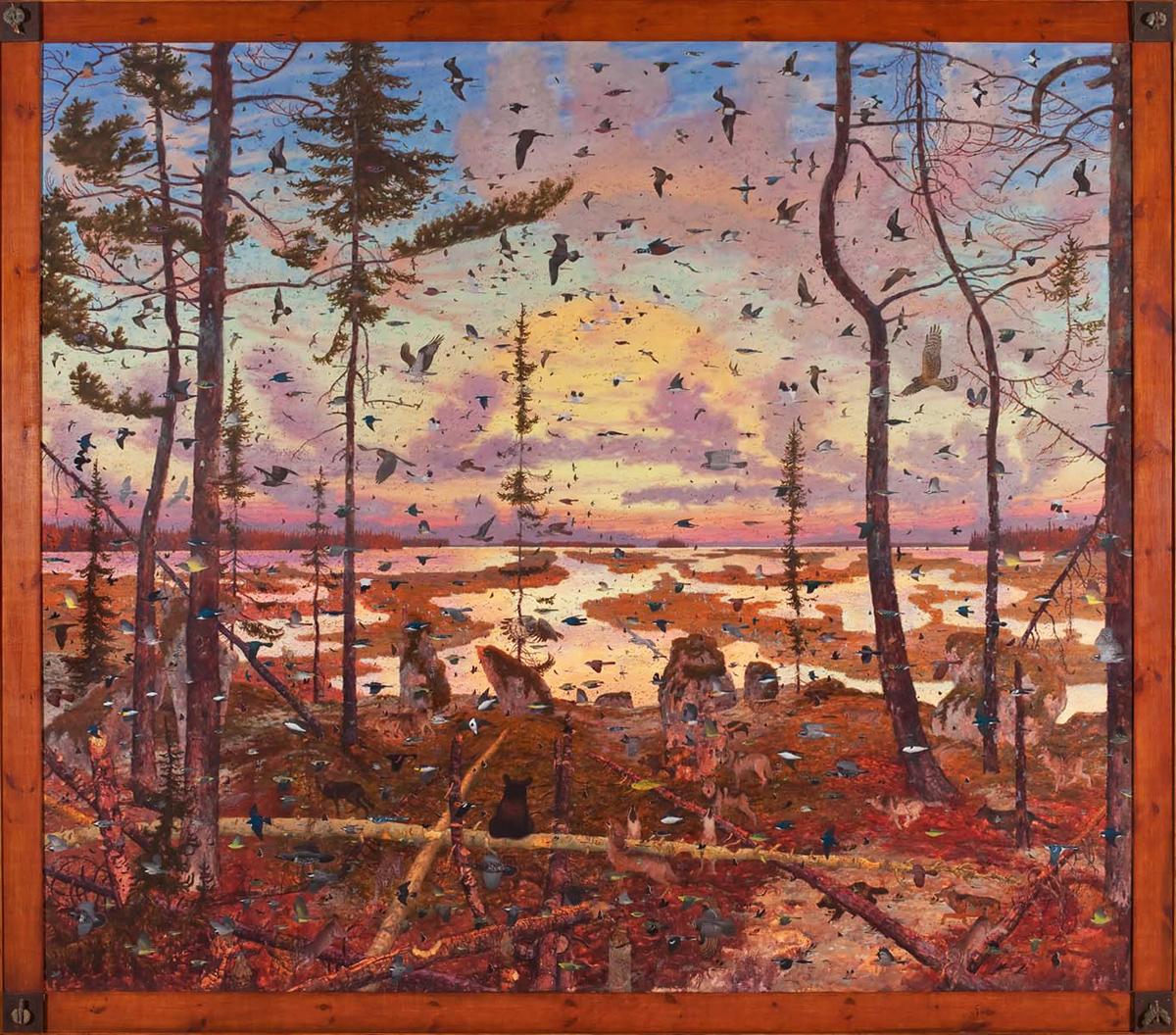 """NIN MAMAKADENDAM, Oil on Linen, 91 x 103"""""""