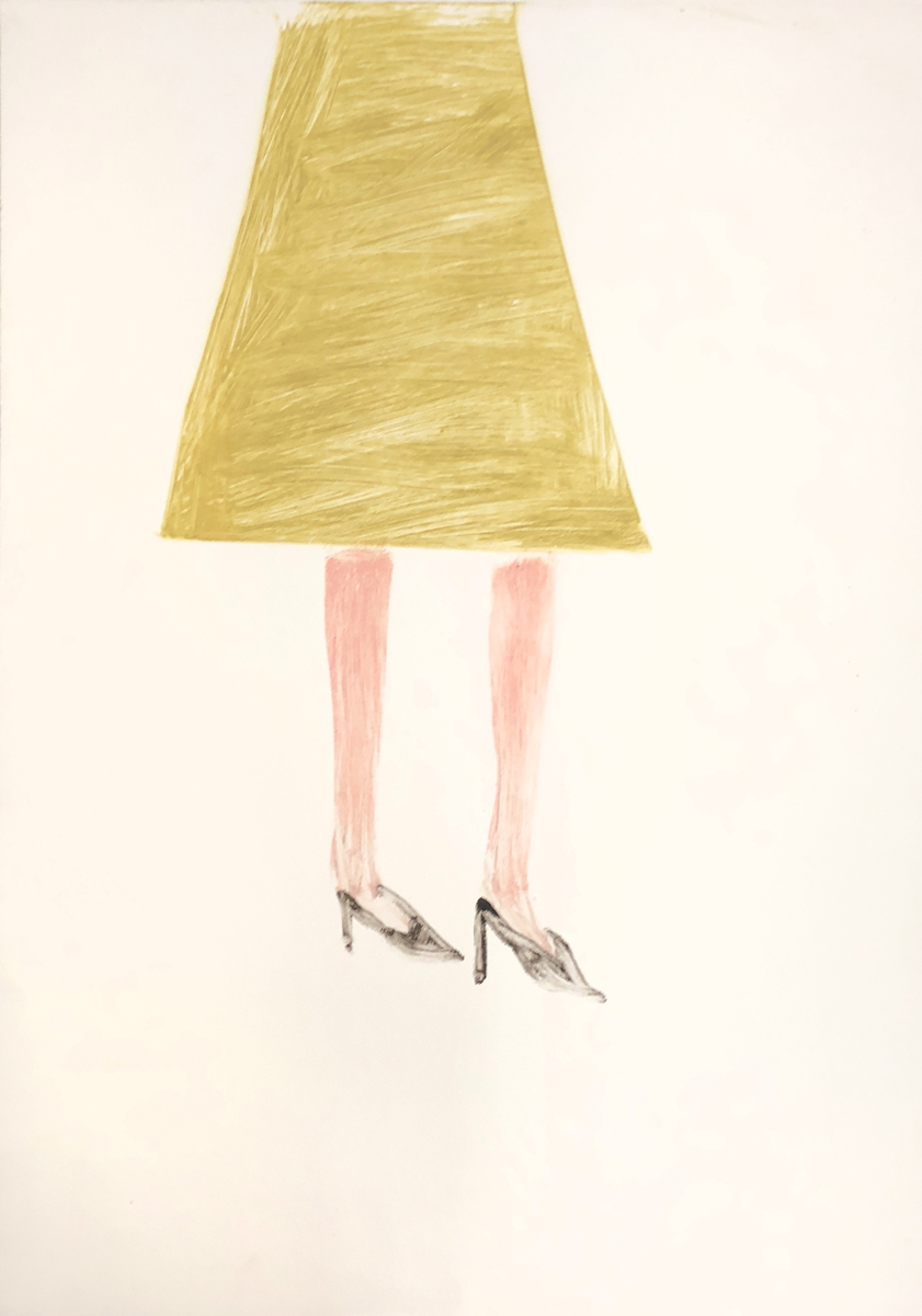 UNTITLED (WOOL SKIRT), Monotype, 42 x 30""