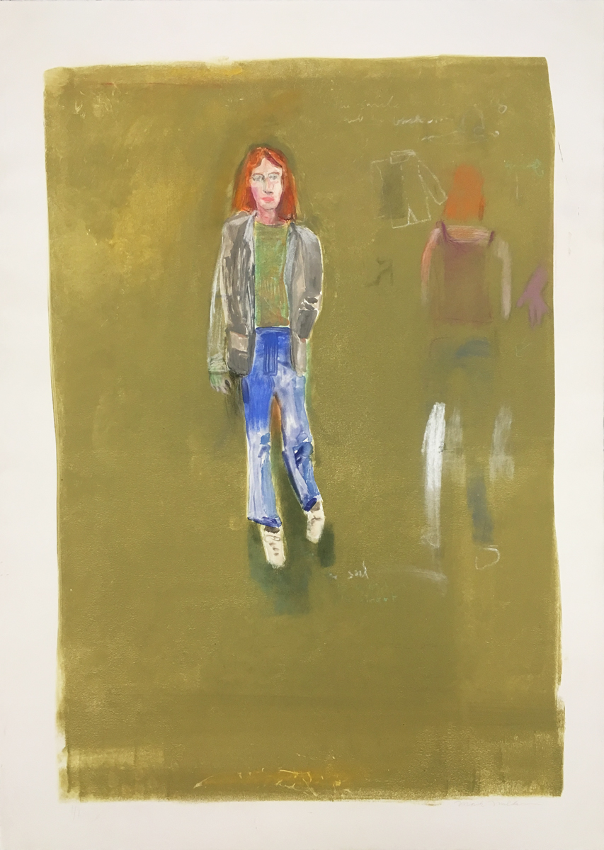 UNTITLED (REDHEAD WALKING), Monotype, 41 1/2 x 29 1/2""