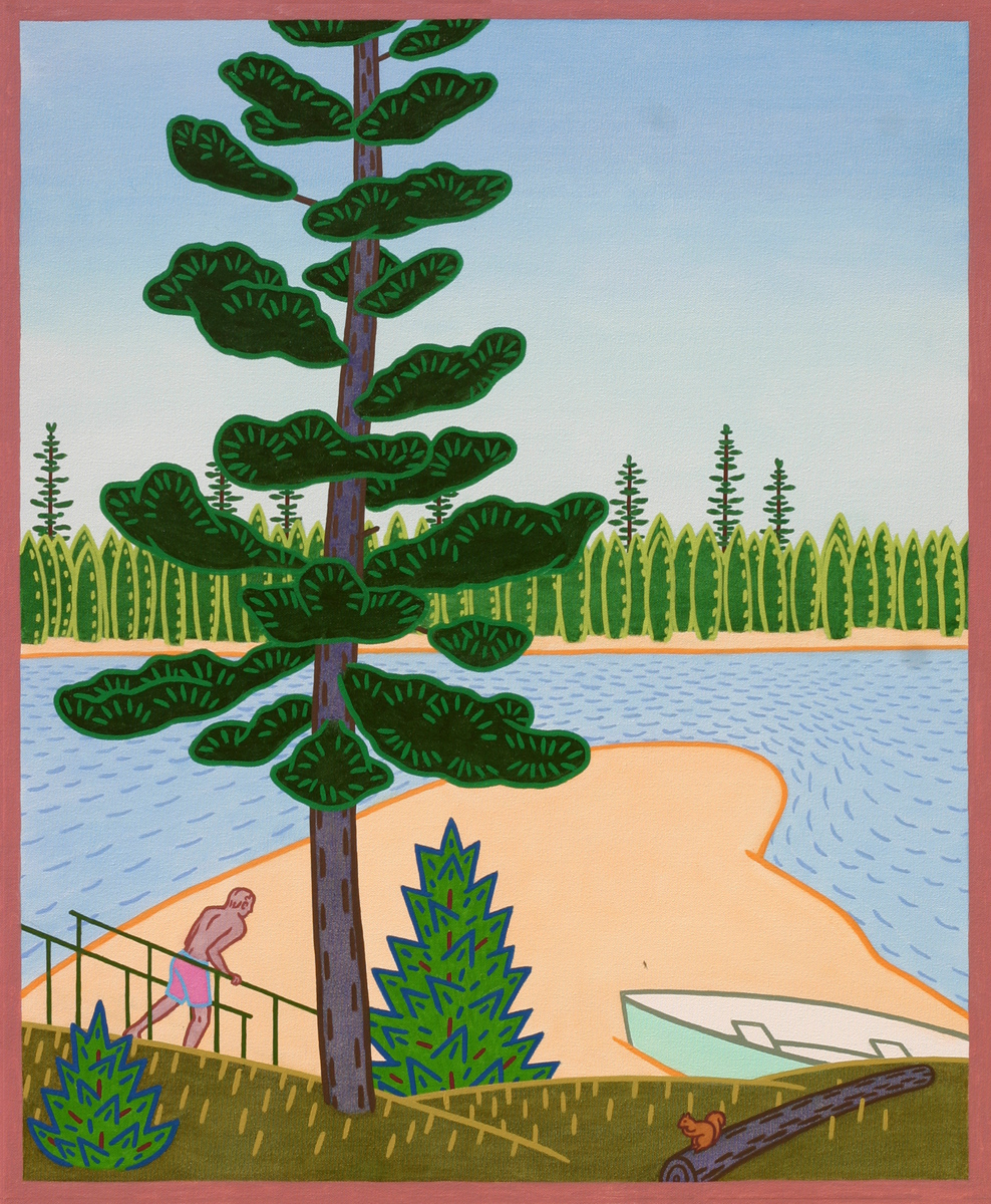 """BIG PINE POINT, Oil on Canvas, 34 x 28""""  (SOLD)"""