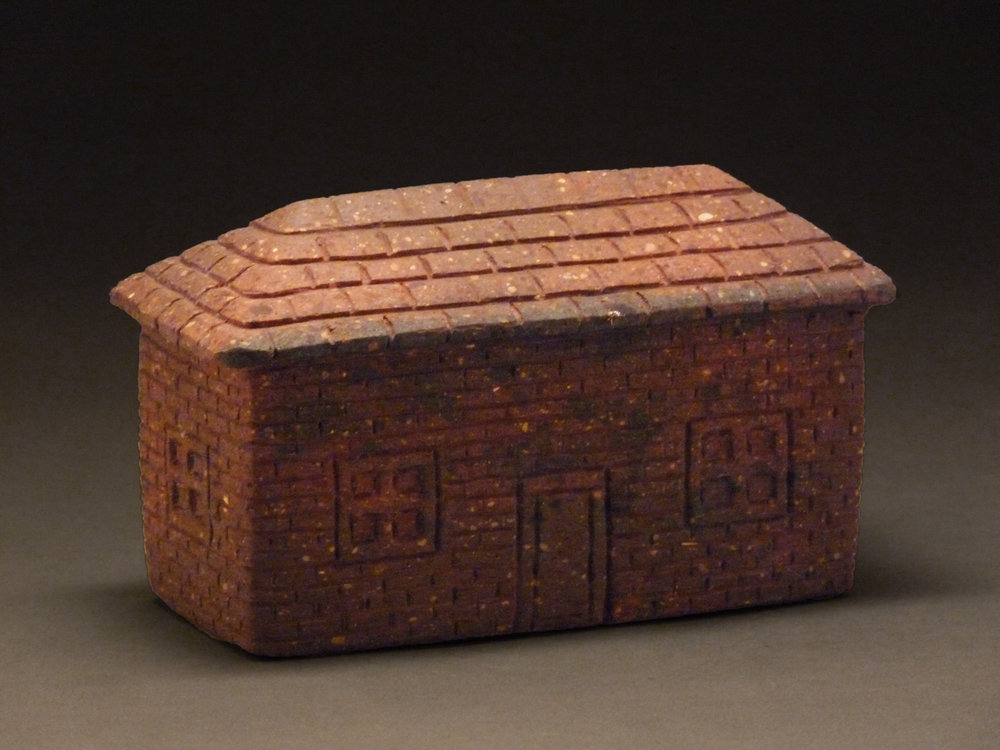 "1909 TRAIN STATION, Carved Vintage Brick, 3 1/2 x 6 1/4 x 3"""
