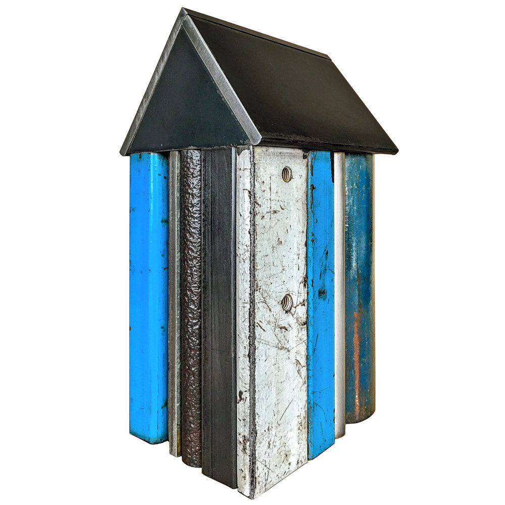 STRUCTURE NO. 165, Found Painted Steel, 9 1/2 x 5 1/2 x 4 1/4""