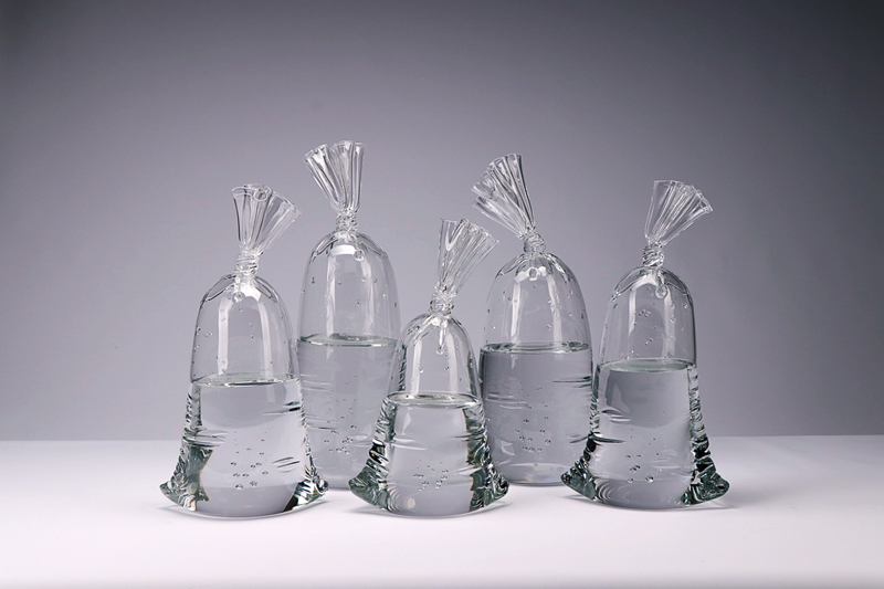 """H2O/SiO2, Blown Glass, 12""""h - 15""""h"""