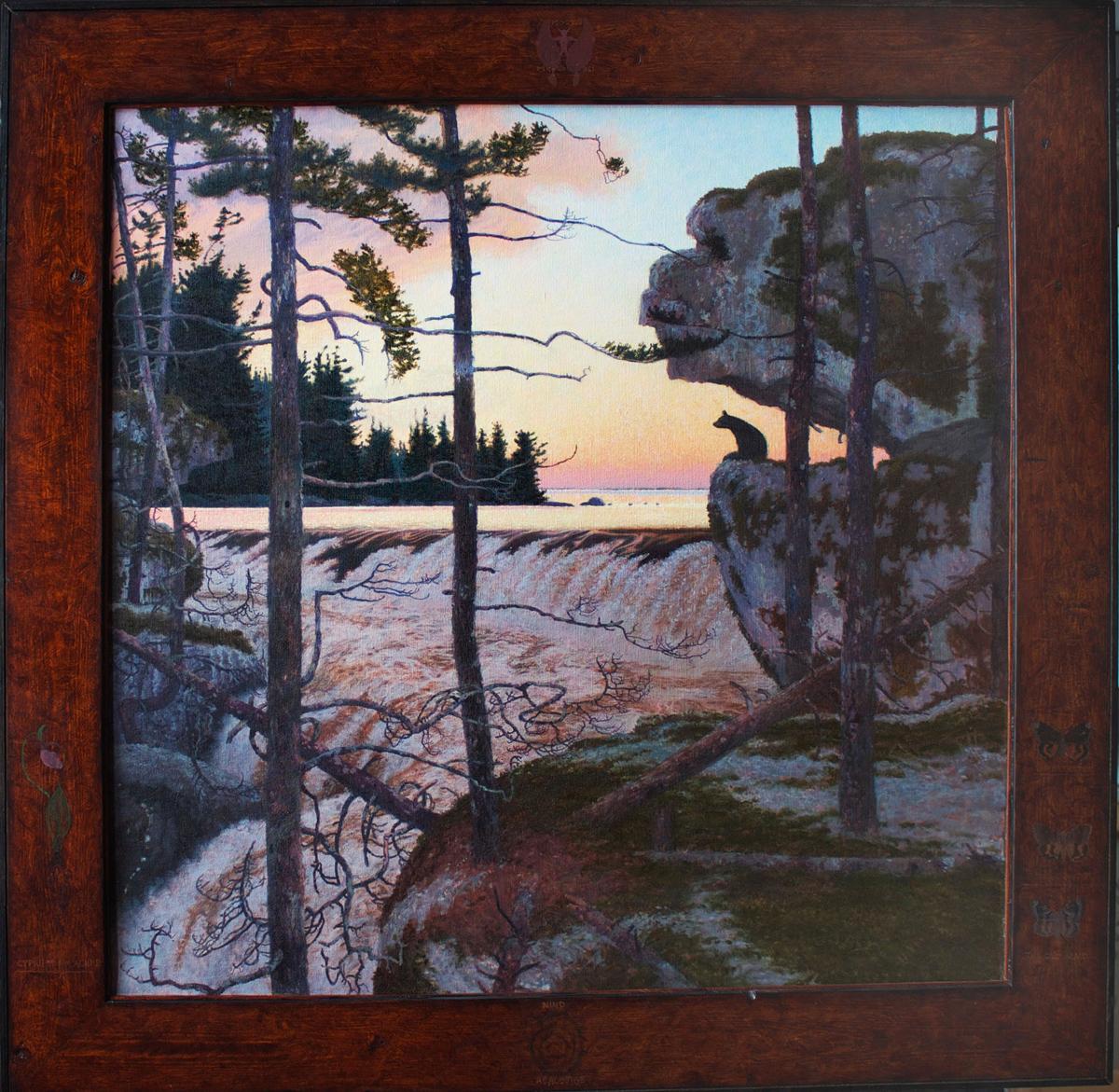 """AKIKIODJIWAN (903), Oil on Linen, 39 x 39"""""""