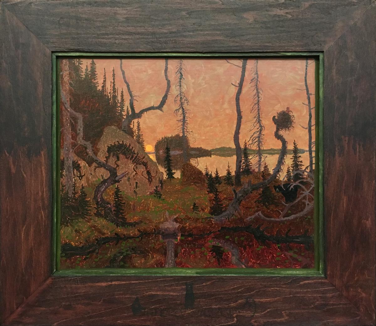 """NEEBIN NAUKSHIK (476), Oil on Museum Board, 16 3/4 x 18 3/4"""""""