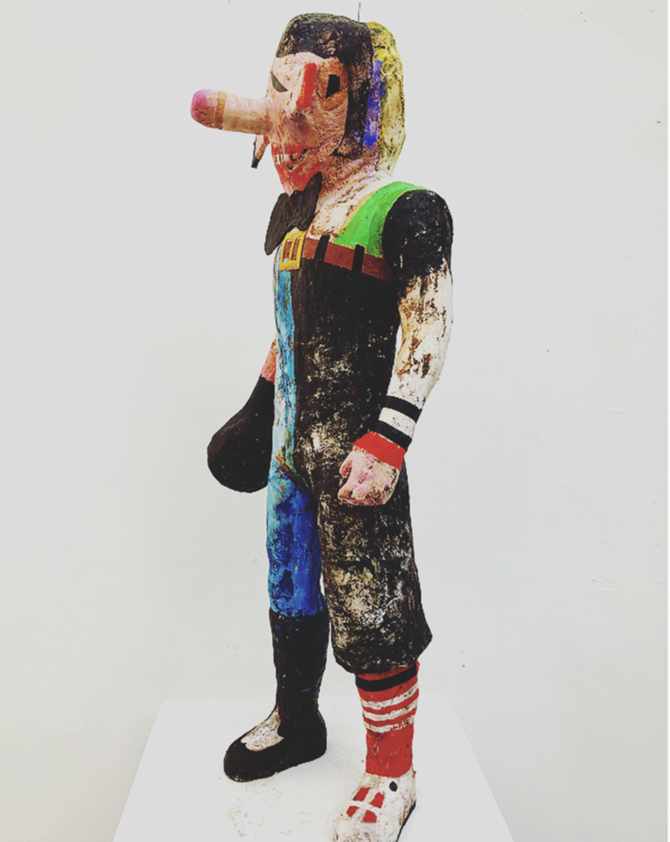 ALFALFA BLOODAXE, Mixed Media, 36""