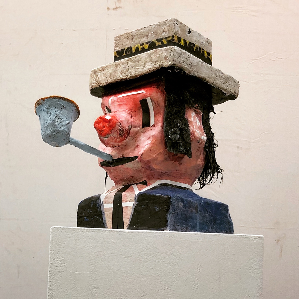 MAN WITH PIPE, Mixed Media